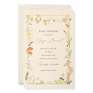 Woodland Baby Invitation