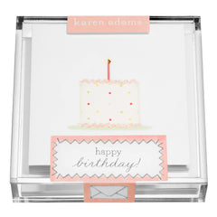 Birthday Cake Gift Enclosures in Acrylic Box