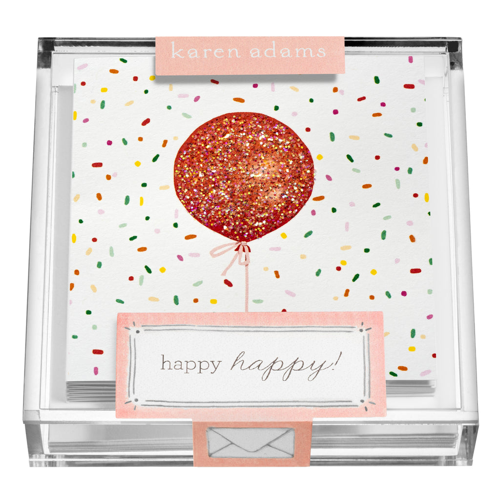 Confetti Balloon Gift Enclosures in Acrylic Box
