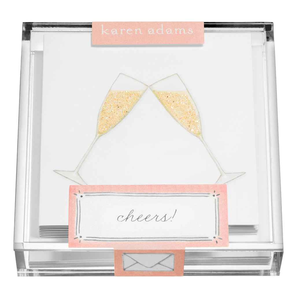 Champagne Flutes Gift Enclosures in Acrylic Box