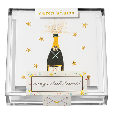 Congratulations Gift Enclosures in Acrylic Box