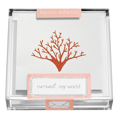 Coral Gift Enclosures in Acrylic Box