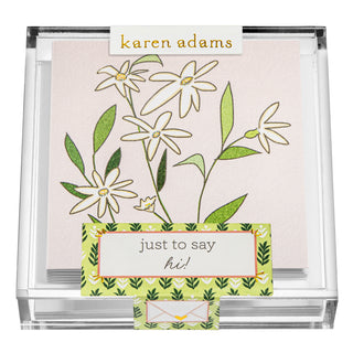 Daisies Gift Enclosures in Acrylic Box