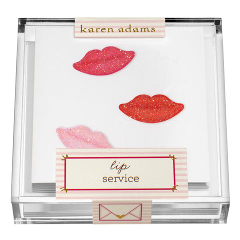 Lips Gift Enclosures in Acrylic Box