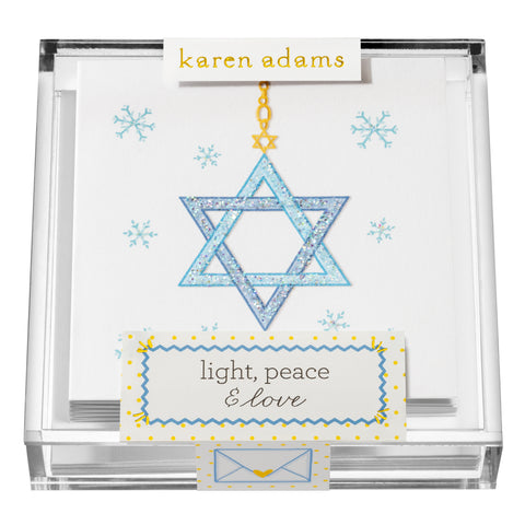 Light, Peace & Love Gift Enclosures in Acrylic Box