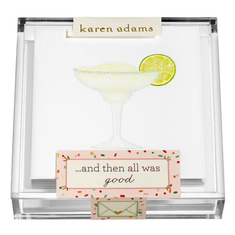 Margarita Gift Enclosures in Acrylic Box