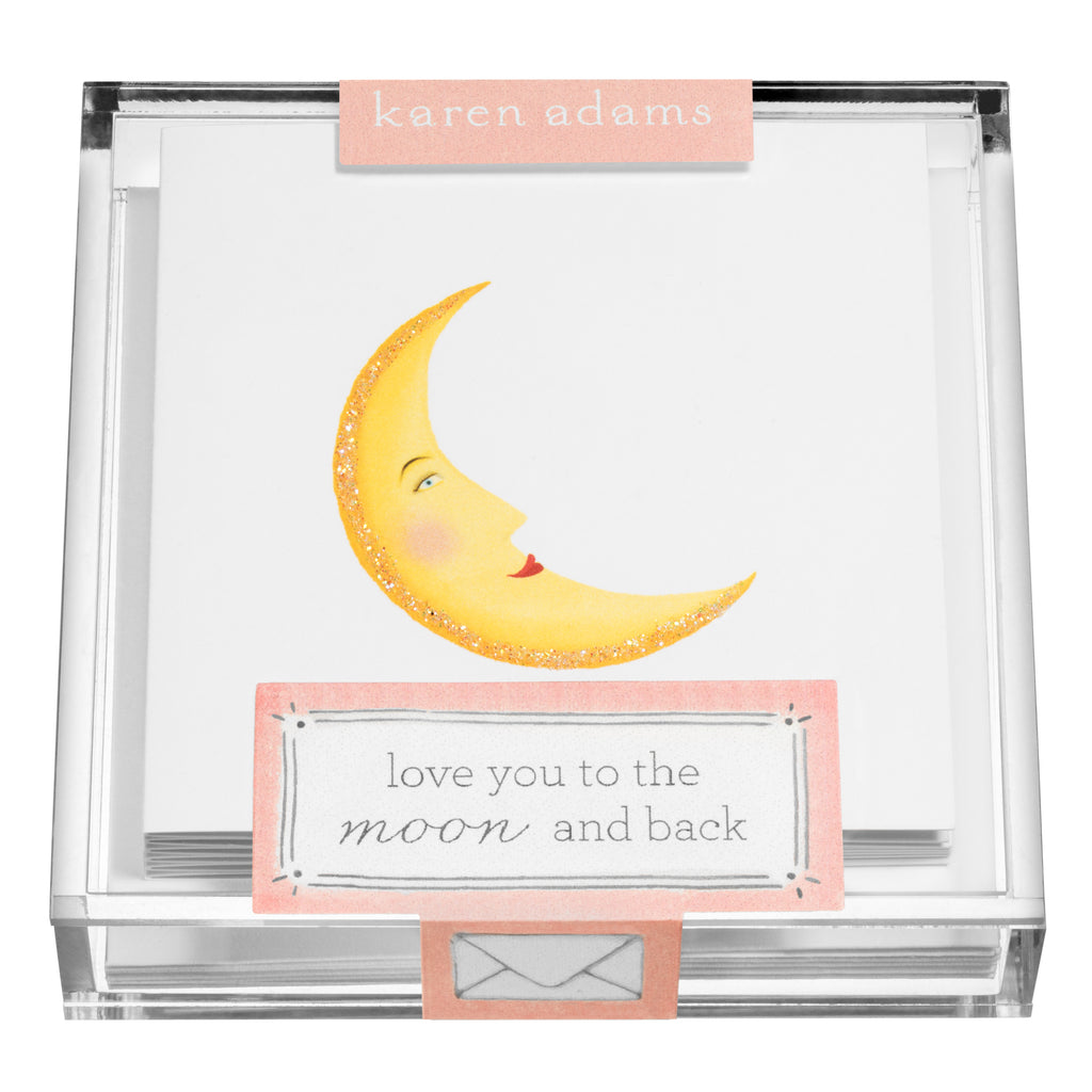Moon Gift Enclosures in Acrylic Box