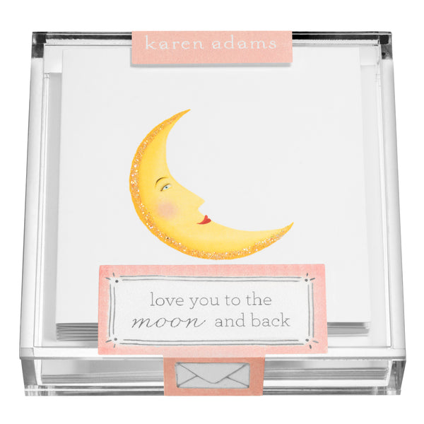 Moon Gift Enclosures in Acrylic Box-1