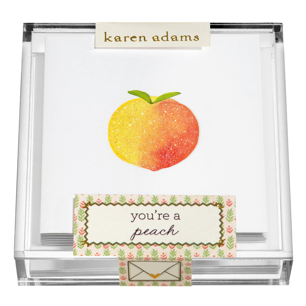 Peachy Gift Enclosures in Acrylic Box