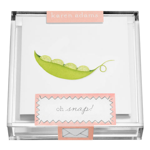 Peas Gift Enclosures in Acrylic Box