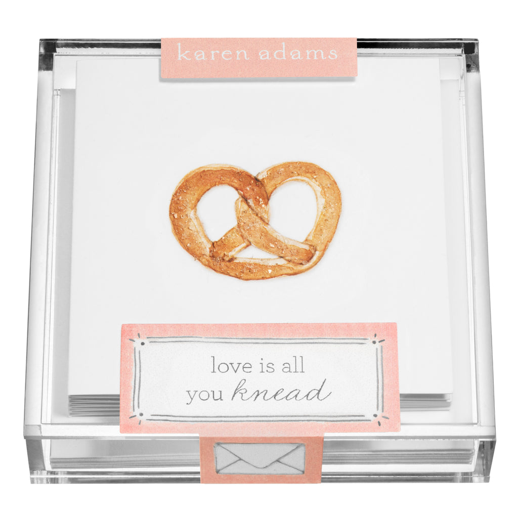Pretzel Gift Enclosures in Acrylic Box