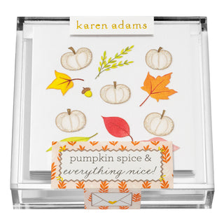Pumpkin Spice Gift Enclosures in Acrylic Box
