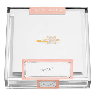 Engagement Ring Gift Enclosures in Acrylic Box