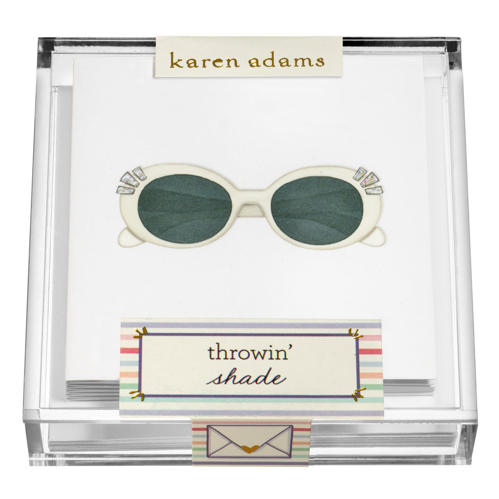 Shades Gift Enclosures in Acrylic Box
