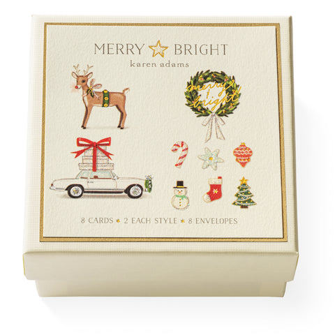 Merry & Bright Gift Enclosure Box
