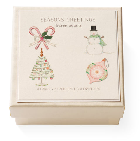Season's Greetings Gift Enclosure Box