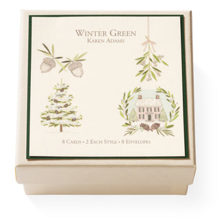 Winter Green Gift Enclosure Box