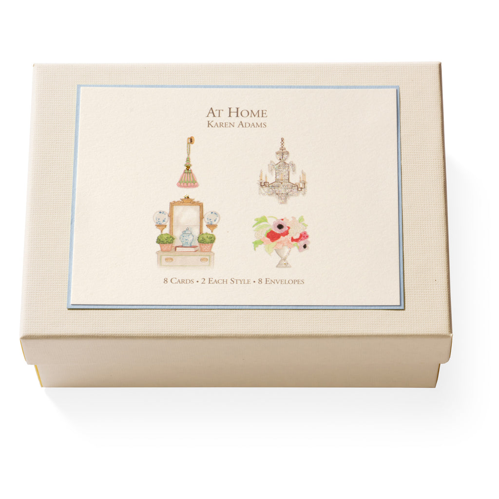 At Home Note Card Box