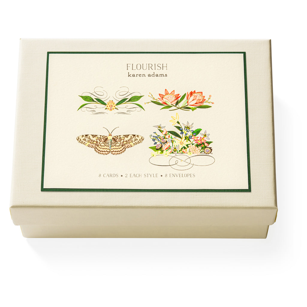 Flourish Note Card Box