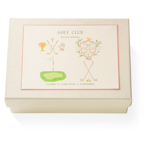 Golf Club Note Card Box