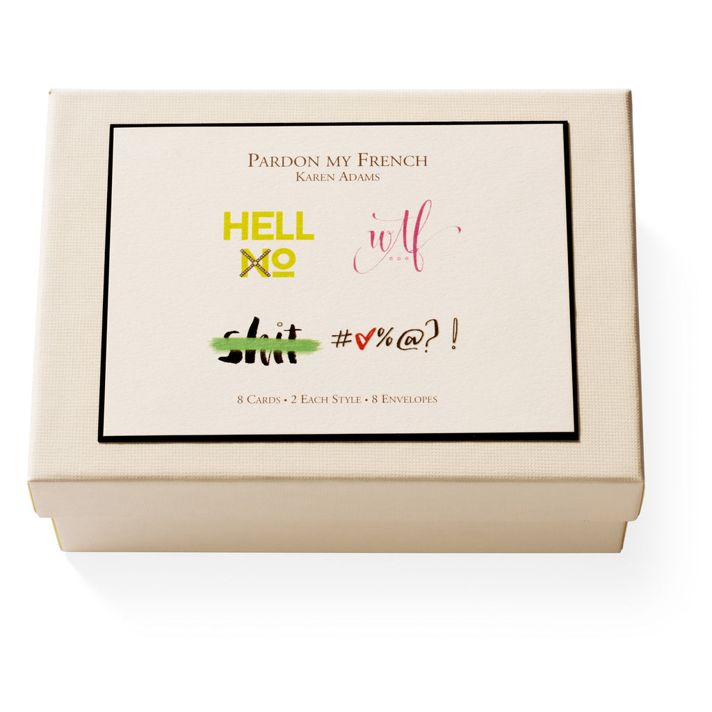 Pardon My French Note Card Box