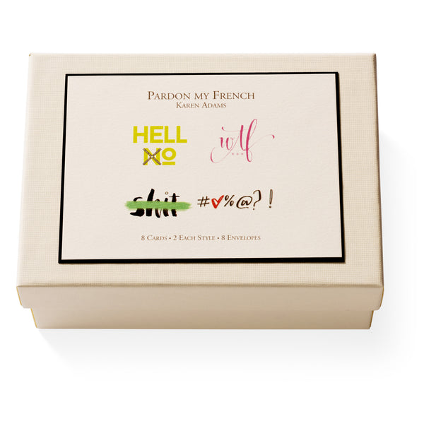 Pardon My French Note Card Box-1
