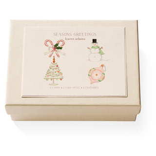 Season's Greetings Note Card Box