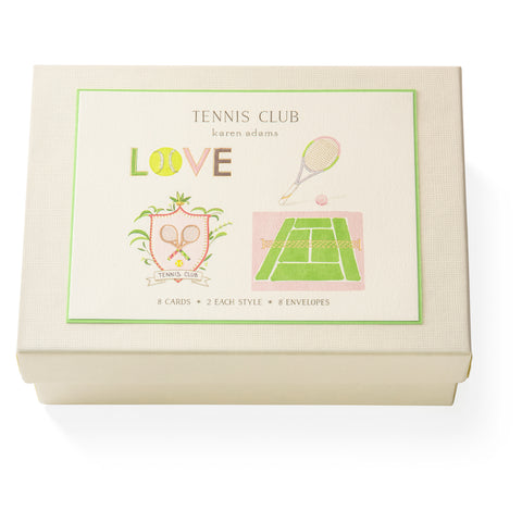 Tennis Club Note Card Box
