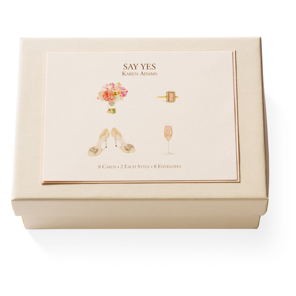 Say Yes Note Card Box