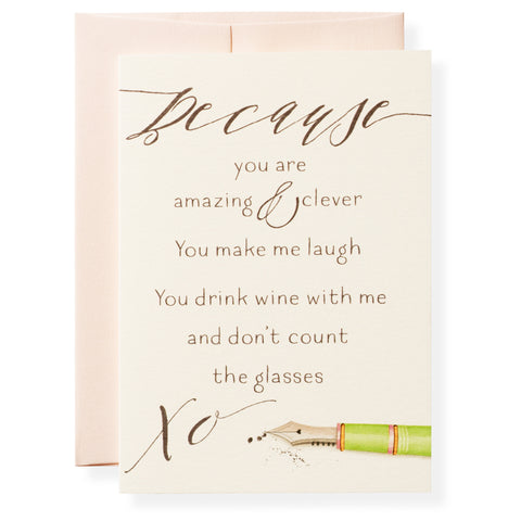 Because Greeting Card