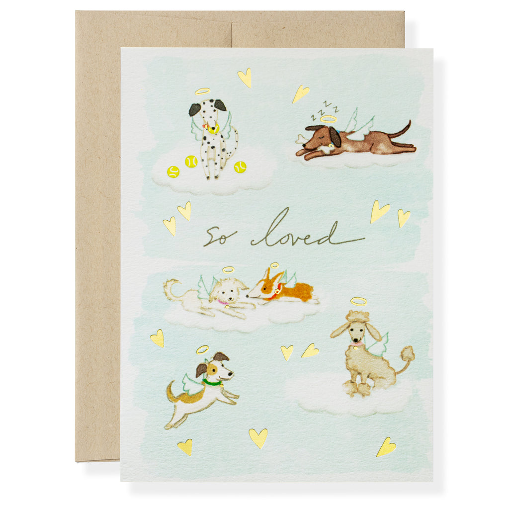 Dog Heaven Greeting Card