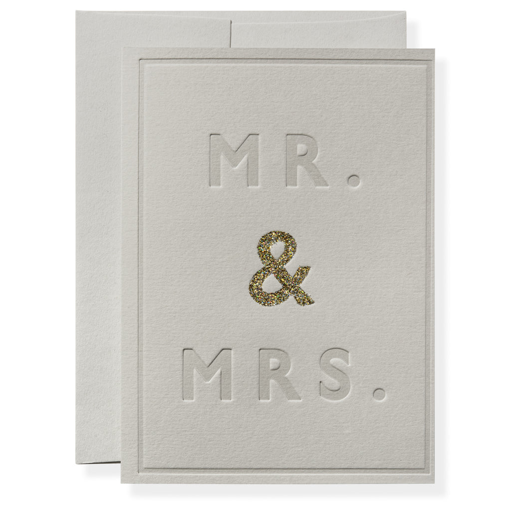 Mr. and Mrs. in Grey Greeting Card