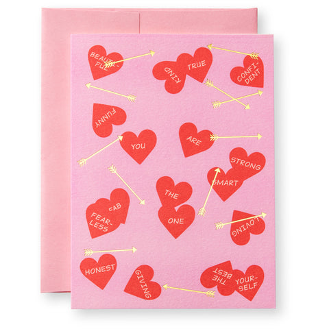 Hearts & Arrows Greeting Card