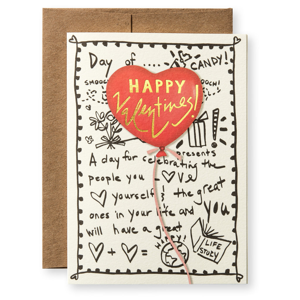Heart Balloon Greeting Card