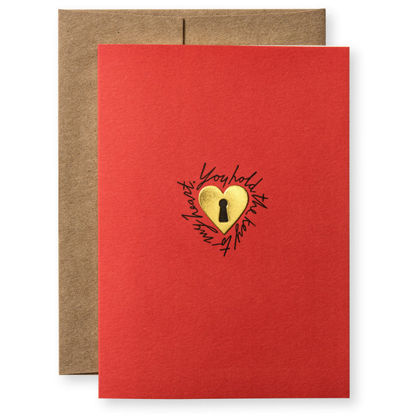 Love Lock Greeting Card-1