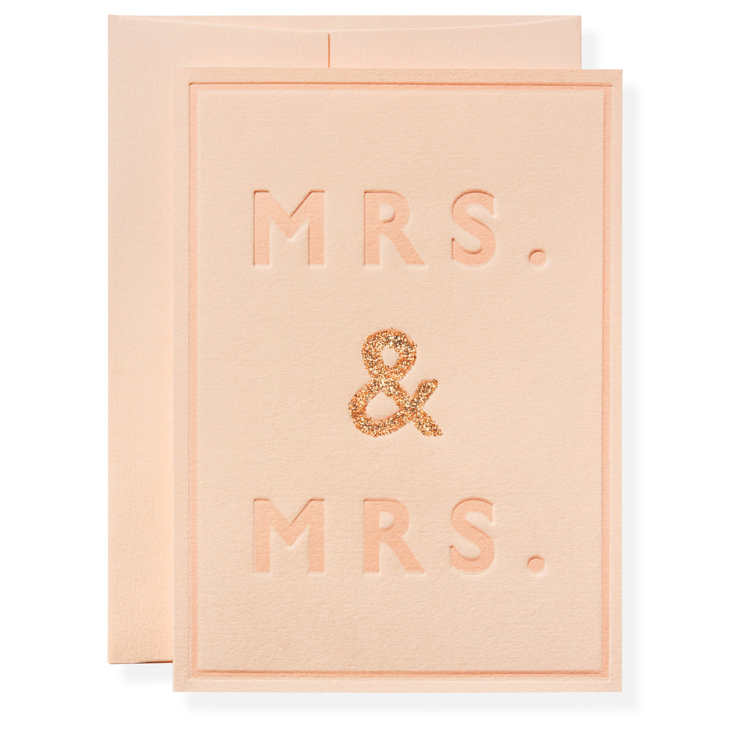 Mrs. and Mrs. Greeting Card