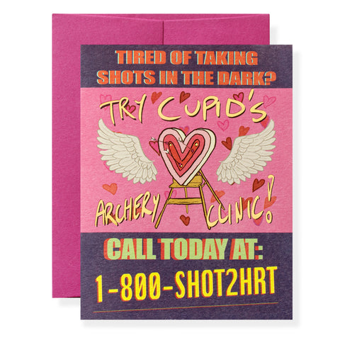 Shot to the Heart Greeting Card