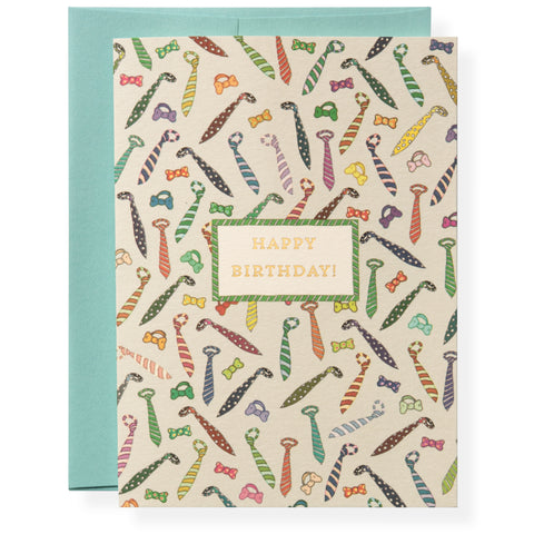 Ties Greeting Card