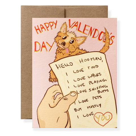 Valendogs Day Greeting Card