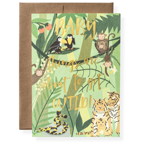 Wild Baby Greeting Card
