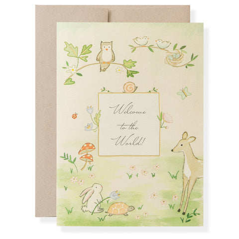 Woodland Baby Greeting Card