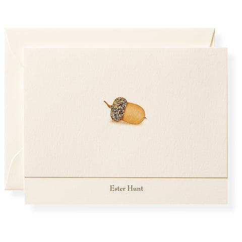 Acorn Personalized Note Cards