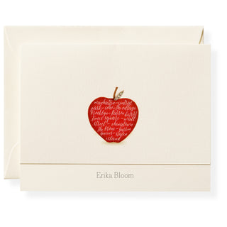 Apple Personalized Note Cards