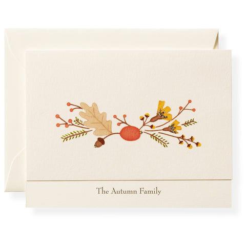 Autumn Flora Personalized Note Cards