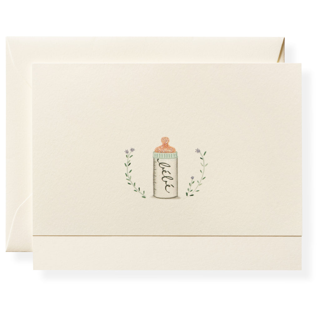 Bottle Individual Note Card