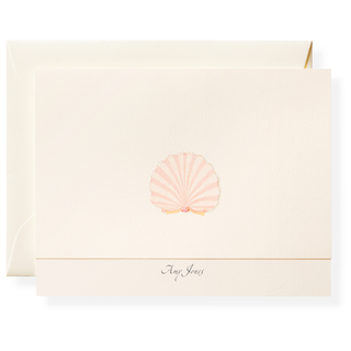Cabana Shell Personalized Note Cards