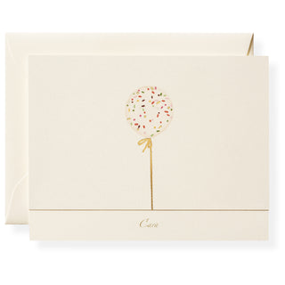 Confetti Balloon Personalized Note Cards