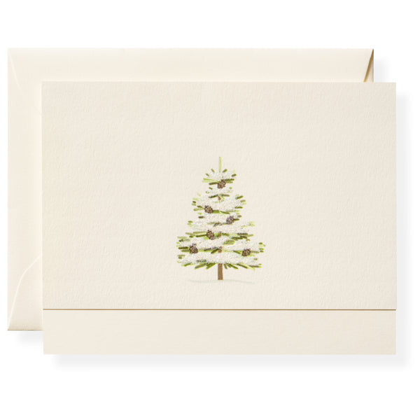 Winter Green Note Card Box-4