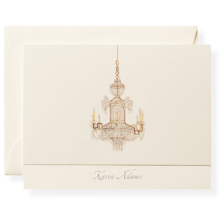 Chandelier Personalized Note Cards
