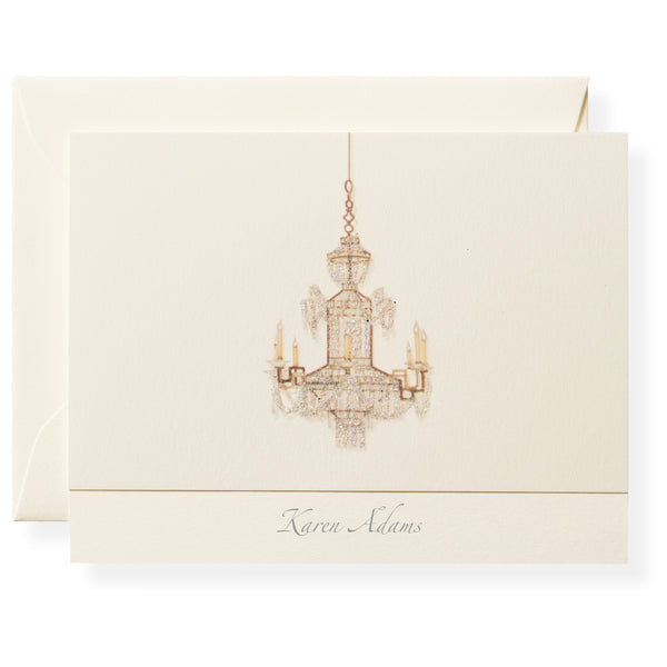 Chandelier Personalized Note Cards-1